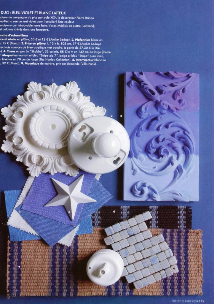 Exemple de mood board Carnets de couleurs dans le ELLE décoration
