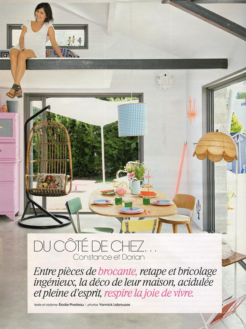 La maison de Constance et Dorian au Pays Basque || Une déco acidulée