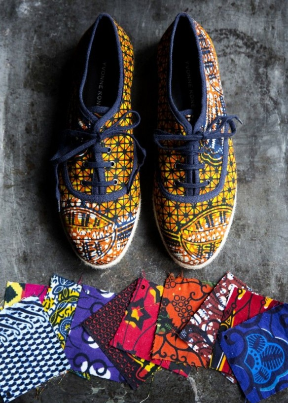 Yvonne Kone special edition african wax sneakers