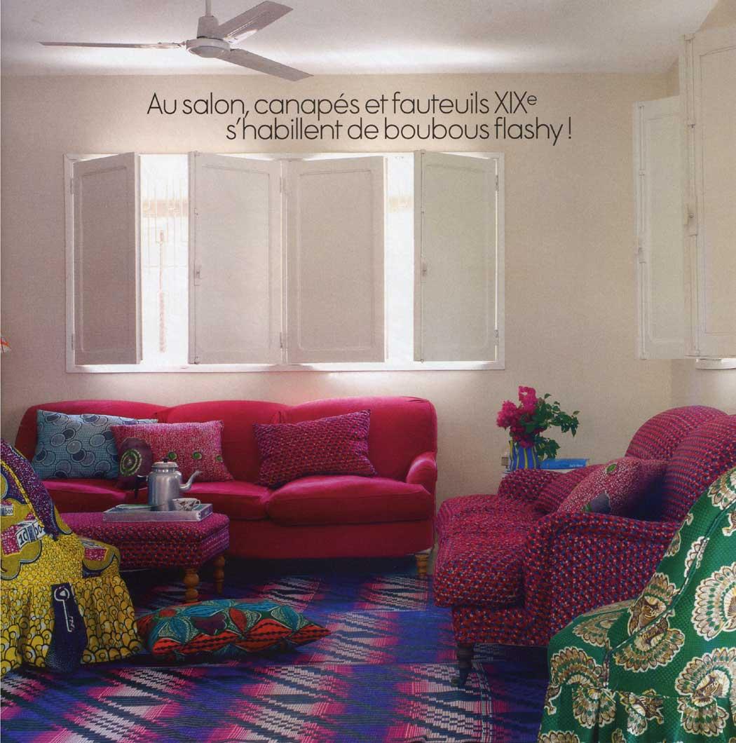 [ Du tissu wax dans ma déco ] La maison de vacances de Fabienne Amzalak au Sénégal