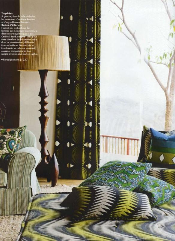 du tissu wax dans ma d co. Black Bedroom Furniture Sets. Home Design Ideas