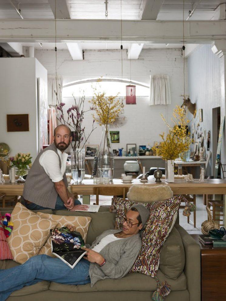 un loft new yorkais vintage romanticisim. Black Bedroom Furniture Sets. Home Design Ideas