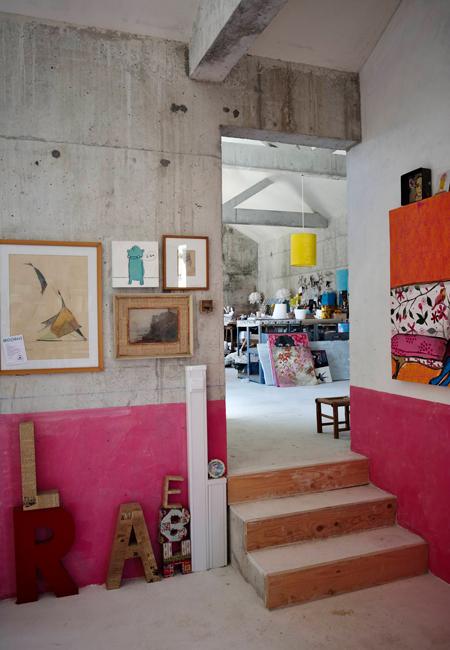 Maison au Portugal aux murs en béton