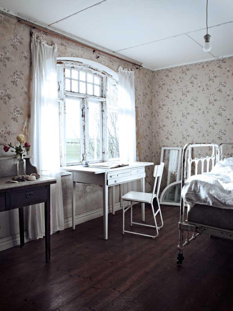 Une vieille demeure a Österlen - Papier-peint défraîchi
