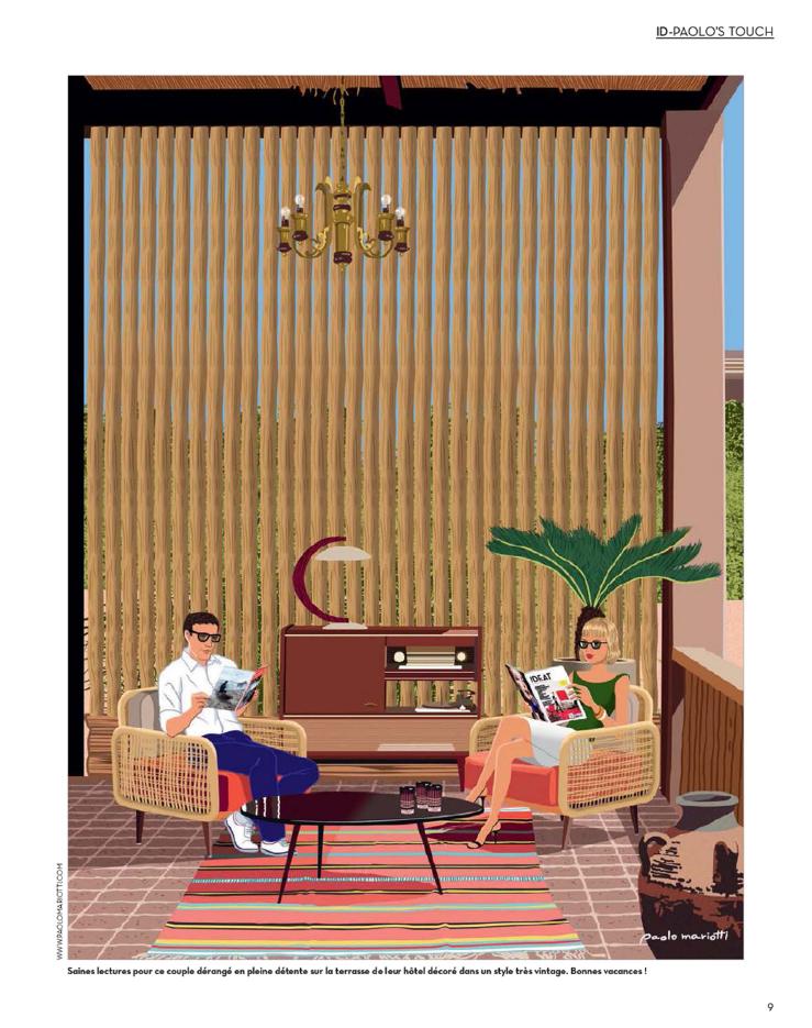 Illustration de Mario Mariotti pour IDEAT - Hotel Fellah