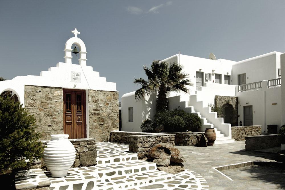 Décor des îles grecques : Hôtel San Giorgio à Mykonos