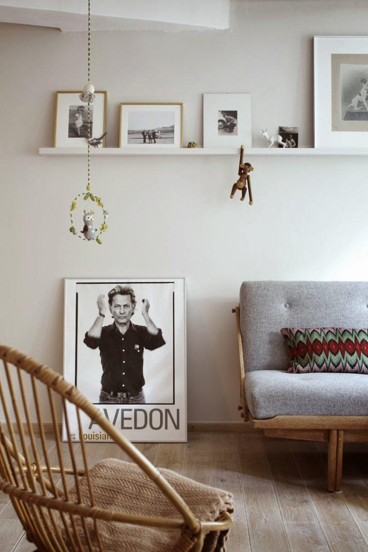 Déco scandinave à Hambourg : chez Lys Vintage // Mobilier vintage et photos en noir et blanc