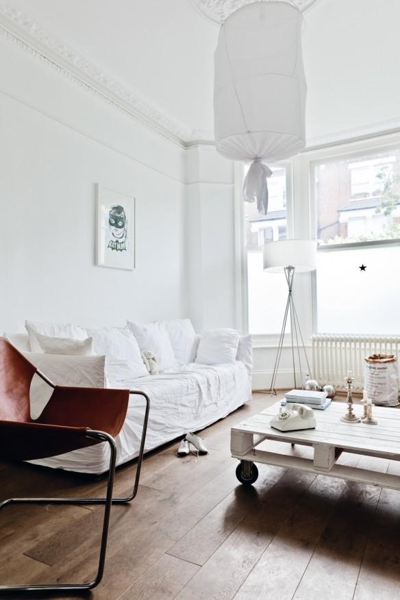 La maison de Karine Kong à Londres - Bodie and fou || Séjour blanc