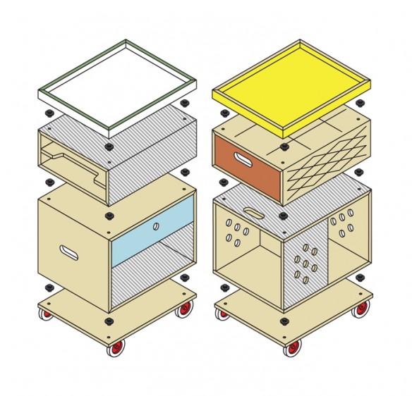 Collection Trolley, par Jan & Randoald édité chez labt.be