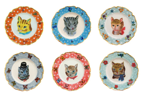 Assiettes chats // Nathalie Lété // Asiatides