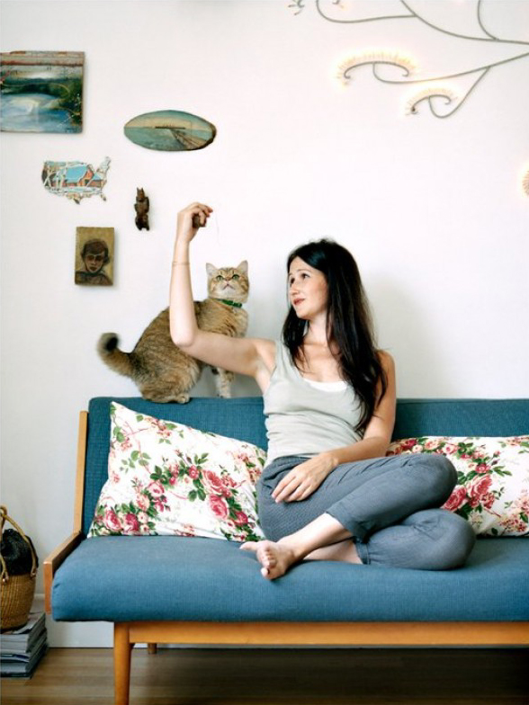 L'intérieur de Sandrine Pigeon, créatrice de la boutique Neëst : le goût de la simplicité