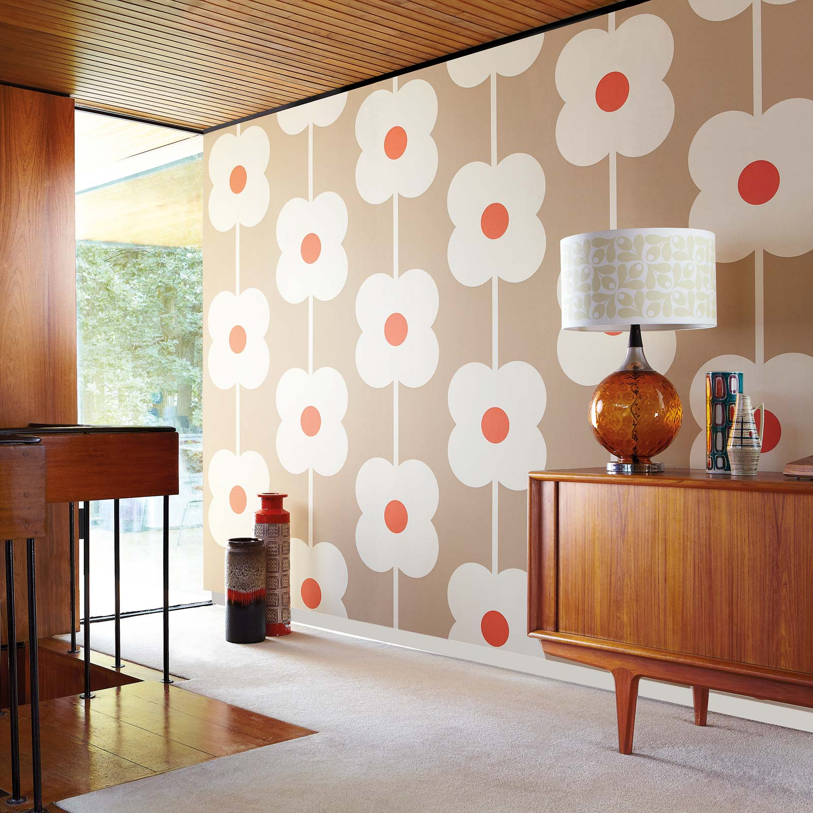 nouvelle collection de papiers peints orla kiely. Black Bedroom Furniture Sets. Home Design Ideas