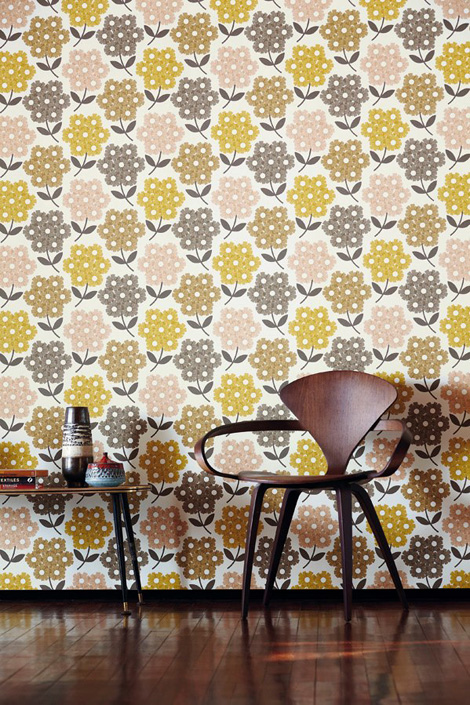 nouvelle collection de papiers peints orla kiely. Black Bedroom Furniture Sets. Home Design Ideas