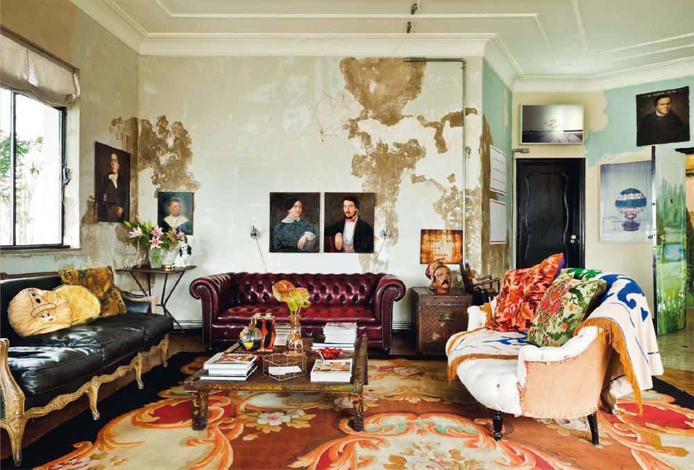 int rieur boh me chez le couturier alexandre herchovitch. Black Bedroom Furniture Sets. Home Design Ideas