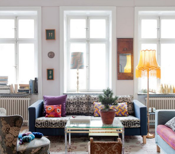 le style boh me de la designer katarina wiklund. Black Bedroom Furniture Sets. Home Design Ideas