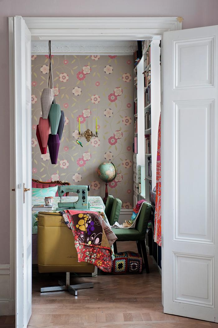 Le style bohème de la designer suédoise Katarina Wiklund // L'atelier couture