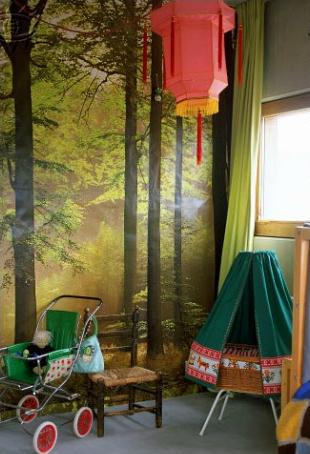 Maison de la designerMary Abrahamson - Papier-peint panoramique Forêt