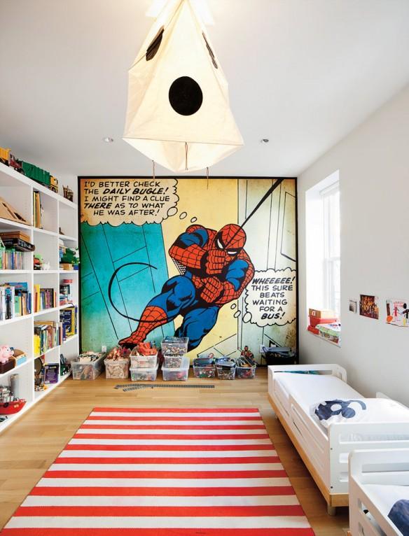 Papier-peint panoramique : Spider man pour chambre de garçon