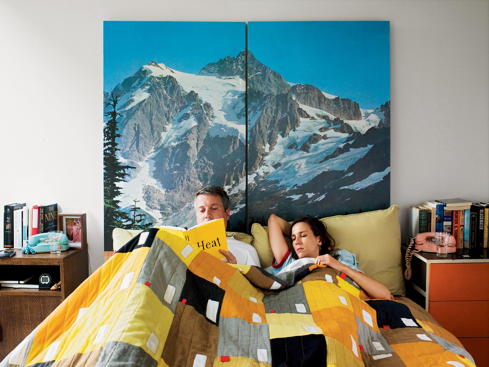 Poster façon Papier-peint panoramique : montagne