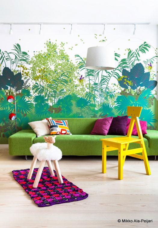 vite une id e d co un papier peint panoramique. Black Bedroom Furniture Sets. Home Design Ideas