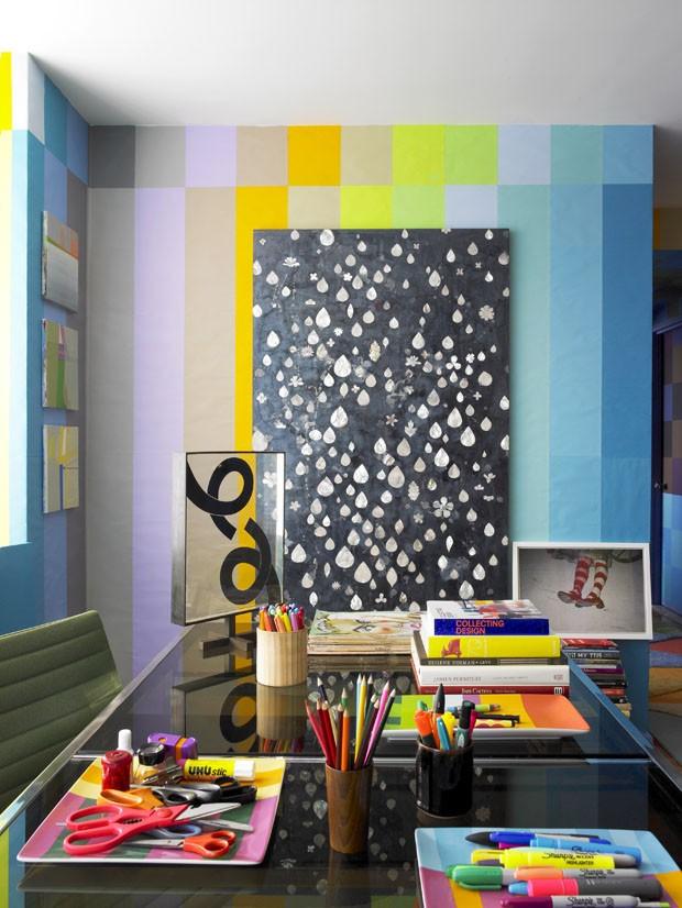 Sélection de peintures murales géométriques // Réalisation Doug et Gene Meyer