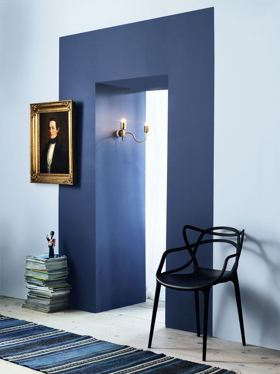 Sélection de peintures murales géométriques // Souligner une porte