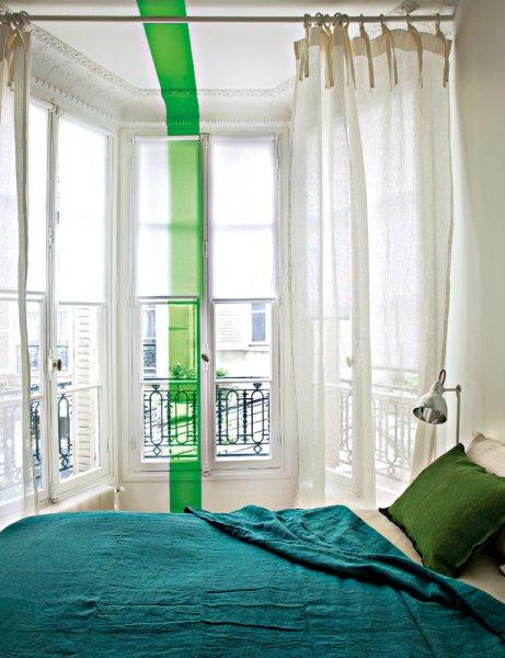 Sélection de peintures murales géométriques // Ligne verte