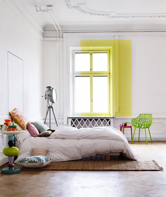 Sélection de peintures murales géométriques // Rectangle jaune