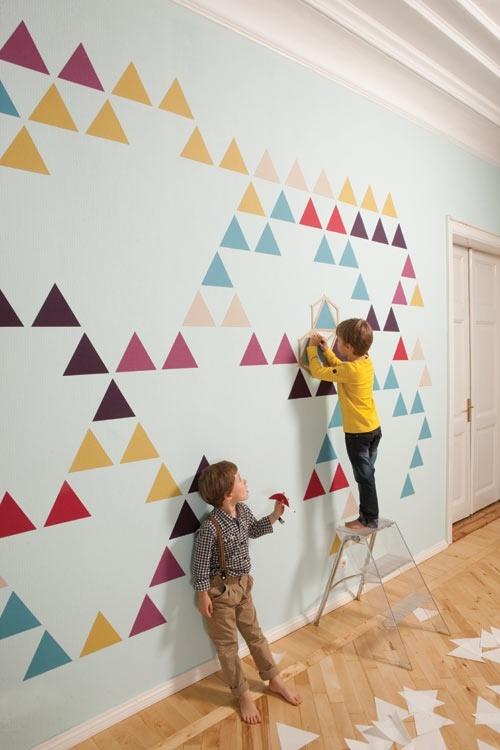 Sélection de peintures murales géométriques // Mosaic wallpaper par Znak life