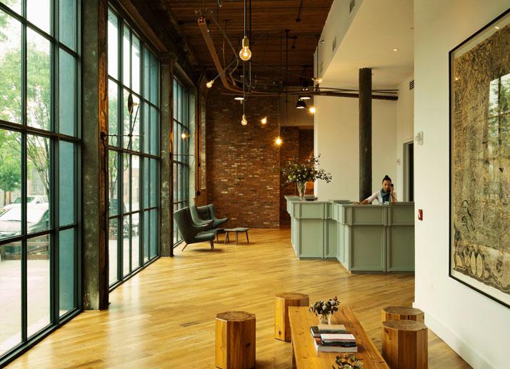 "Vivre l'ambiance ""loft new-yorquais"" à l'hôtel Wythe,Brooklyn"