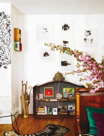 L'appartement bohème chic de Fatima de Burnay // Haut de meuble relooké