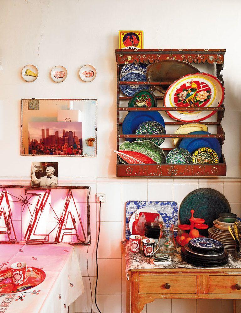 L'appartement bohème chic de Fatima de Burnay // Une cuisine au style bazar chic