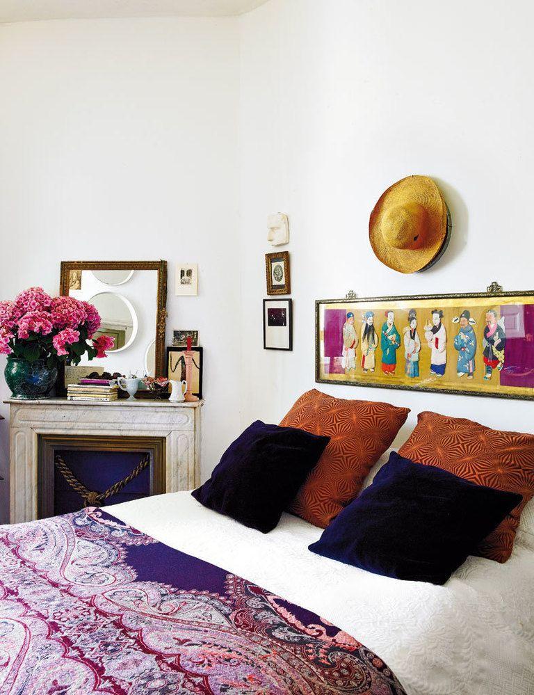 L'appartement bohème chic de Fatima de Burnay // Une chambre aux jolis détails ethniques