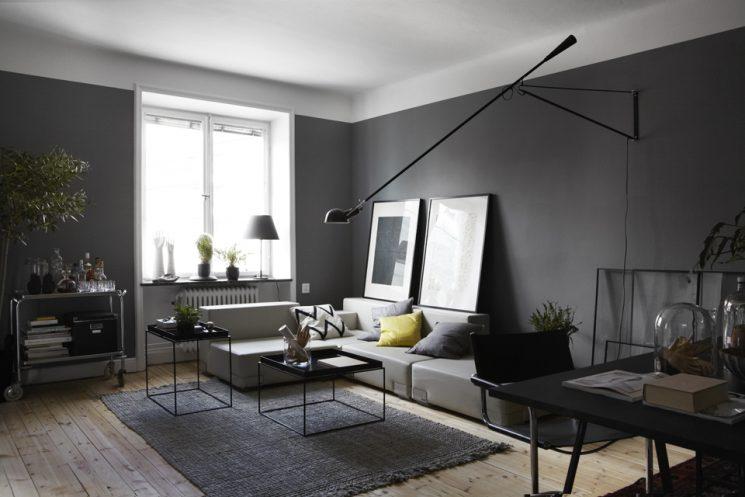 Créer le contraste ... pour moderniser l'ancien | Appartement en gris anthracite