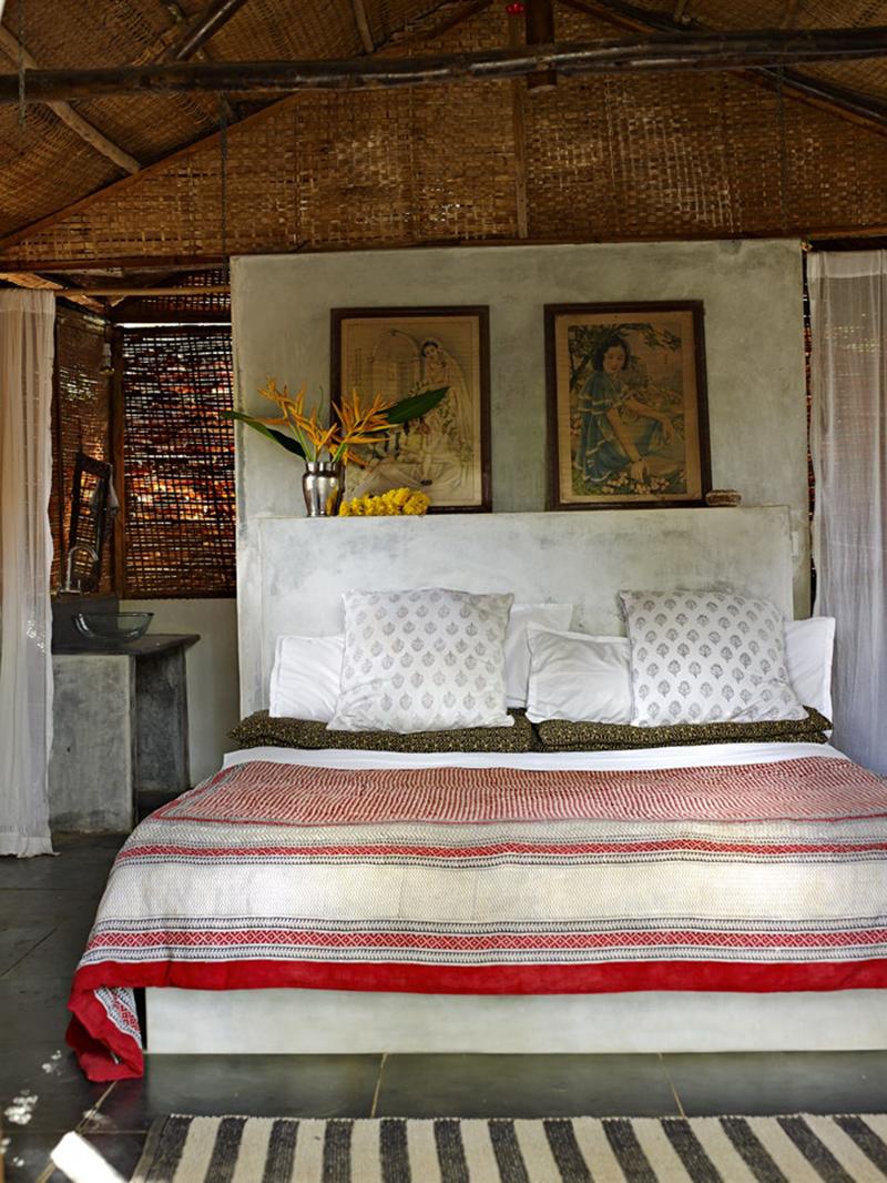 La maison de Jade Jagger à Goa // Chambre