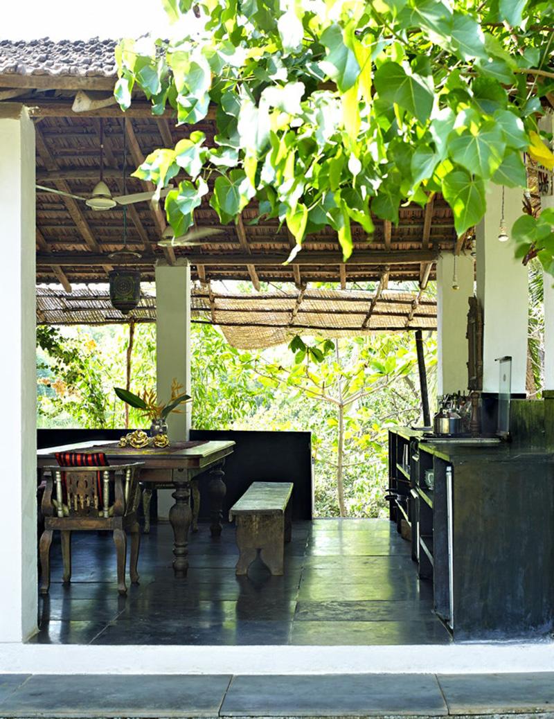 La maison de Jade Jagger à Goa // Séjour ouvert