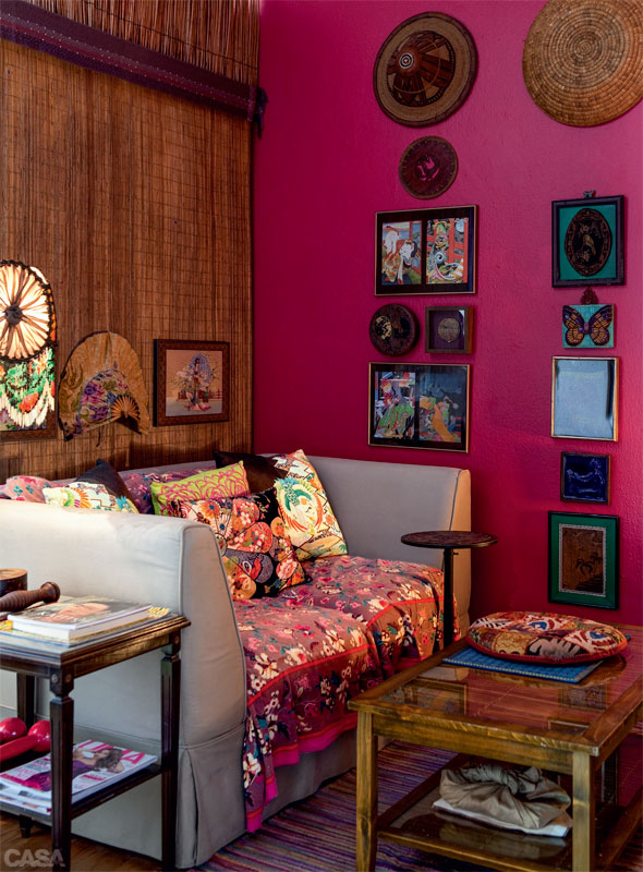 Des murs de couleurs vives sous le soleil || Silvia Adami home - São Paulo Brasil
