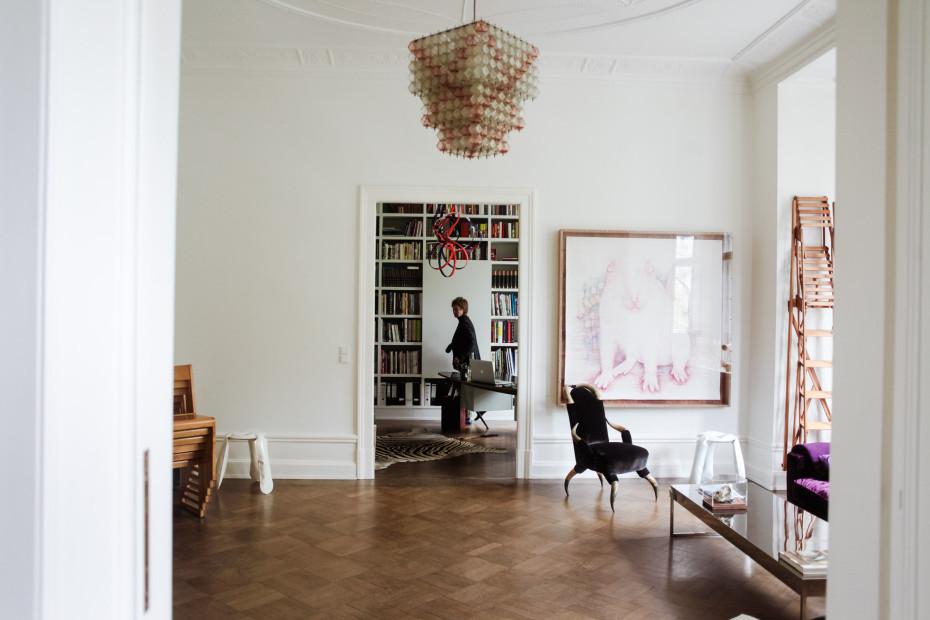 Un appartement comme une galerie d 39 art contemporain for Appartement contemporain