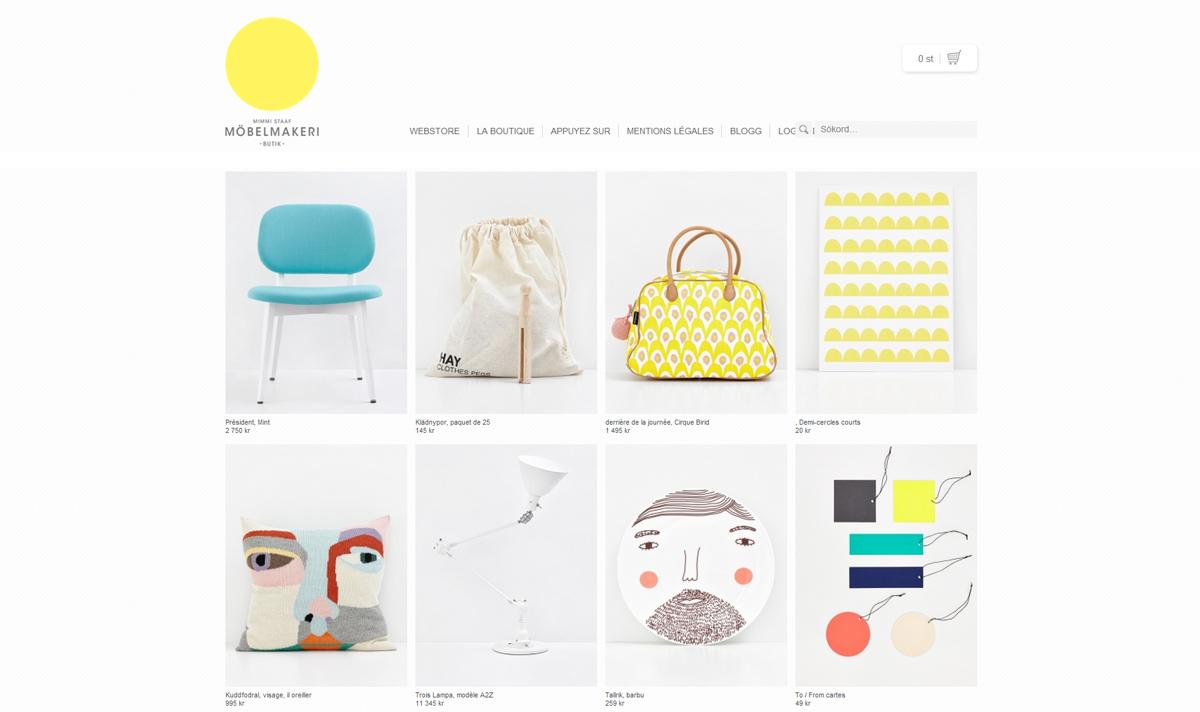 La boutique web Mimmi Staaf
