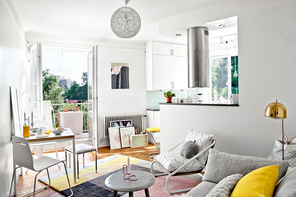 Style su dois le petit appartement de mimmi staaf for Decoration petit studio