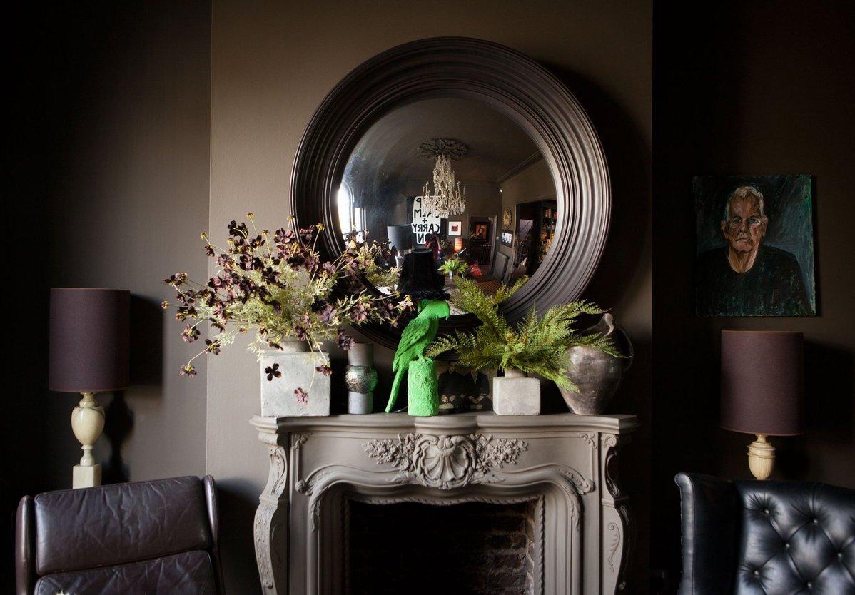 L'intérieur de la designer Abigail Ahern à Londres    #couleur #marron