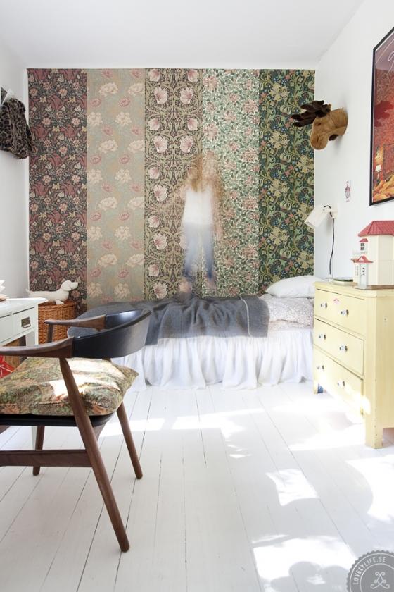 La maison d'Annacate près de Göteborg || #Patchwork de papiers-peints