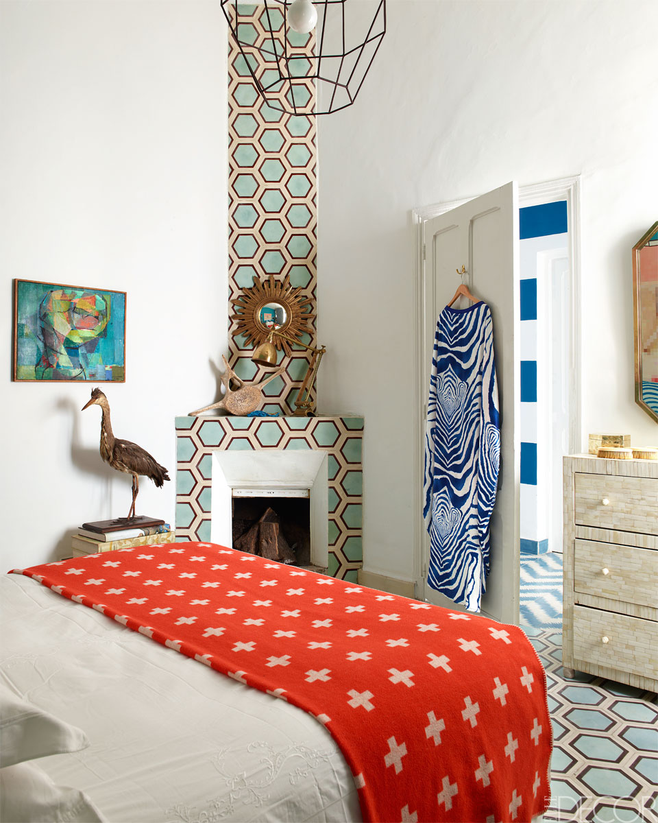 Booster sa déco avec des carreaux de ciment || La maison de Caitlin et Samuel Dowe-Sandes à Marrakech