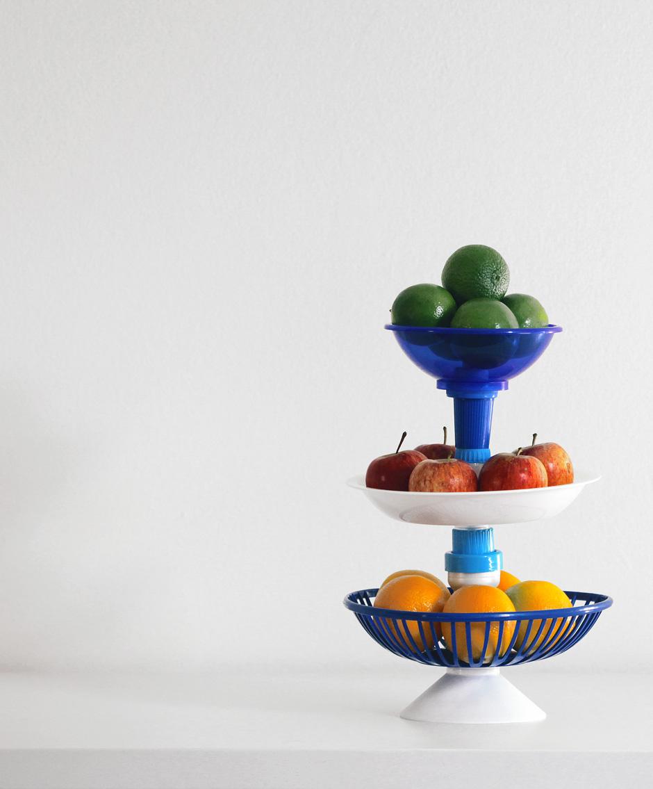 Série Multiplastica Domestica en bouchons de plastique recyclés - Design Bruno Jahara