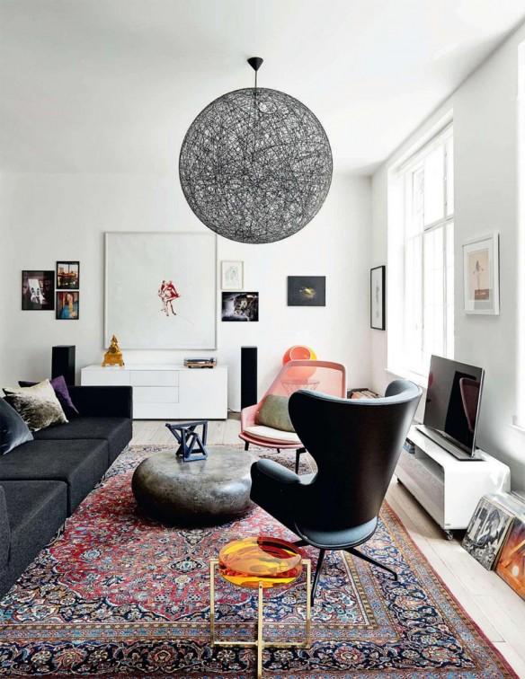 Tendance déco, le grand retour du tapis persan | Jon Oron appartement Copenhague