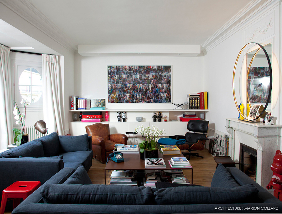 Booster le style haussmannien par marion collard for Decoration interieur appartement haussmannien