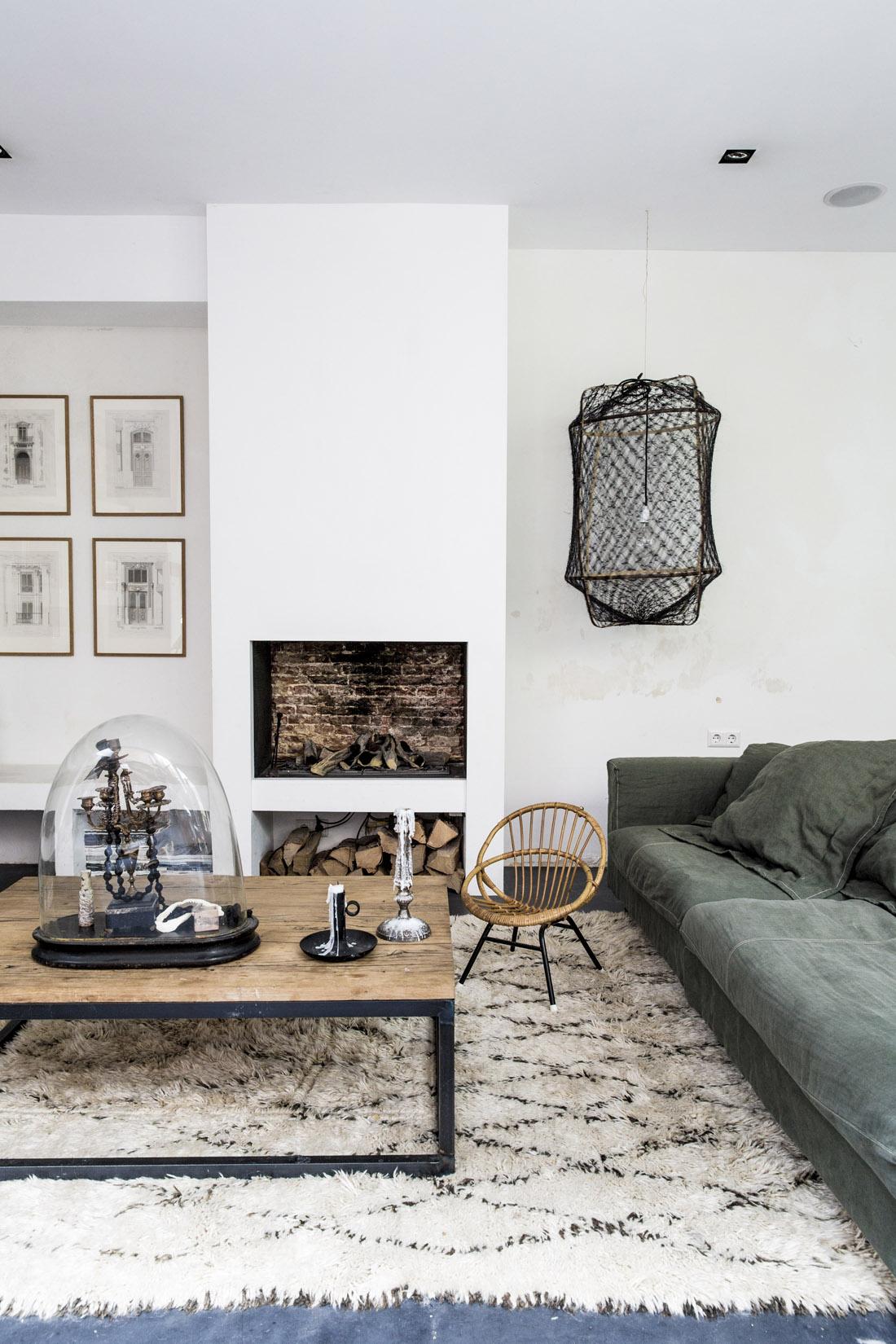 Tendance tapis Beni Ouarain - Le loft de Marius Haverkamp & family à Amsterdam