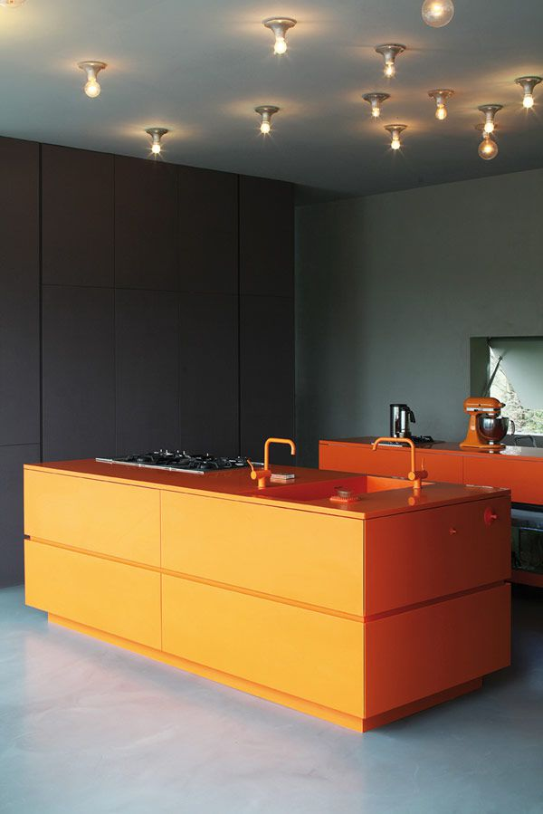Idée de cuisine : un bloc orange