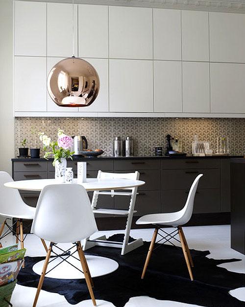 Idée déco : une cuisine en noir et blanc