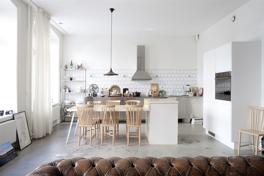 Une cuisine ouverte sur le s jour - Great swedish kitchen design ideas for your home ...